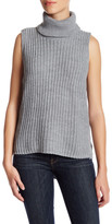 Cotton Emporium Sleeveless Hi-Lo Turtleneck Sweater
