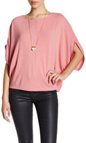 Cupcakes And Cashmere 3/4 Dolman Sleeve Knit Shirt
