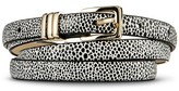 Merona Women's White with Black Dots Printed Belt