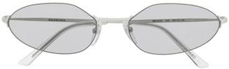 Balenciaga Eyewear Invisible oval-frame sunglasses