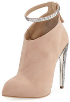 Giuseppe Zanotti Frida Suede & Crystal Ankle-Strap 120mm Bootie