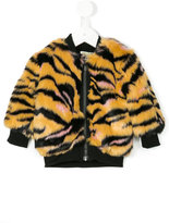 Kenzo faux fur tiger print coat - kids - Acrylic/Polyester - 12 mth