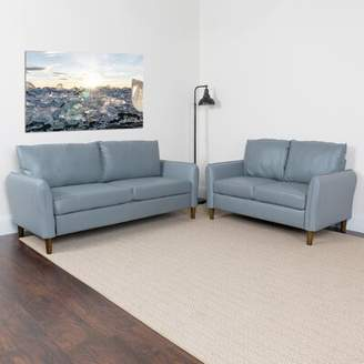 O'Neill Williston Forge Upholstered 2 Piece Living Room Set Williston Forge Upholstery Color: Gray