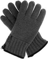 Dents Mens Knitted Glove Side Zip Detail