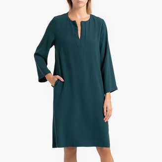 Toupy Line Long-Sleeved Shift Dress