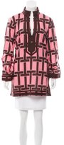 Tory Burch Long Sleeve Abstract Print Tunic