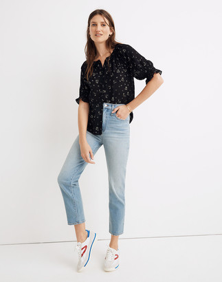 Madewell Tall Classic Straight Jeans in Meadowland Wash