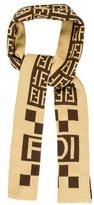 Fendi Cashmere & Wool Zucca Scarf