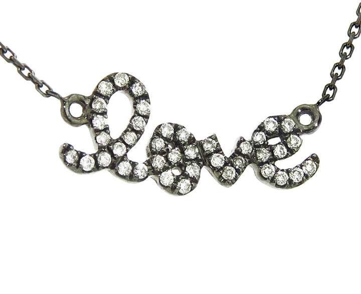 Sydney Evan Diamond Love Necklace - Black Necklace