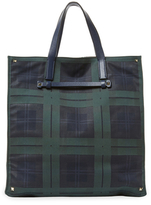 Valentino Plaid Tote Bag