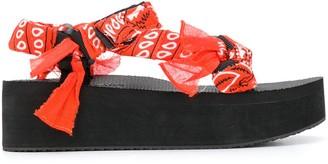 Arizona Love Bandana Print Sandals