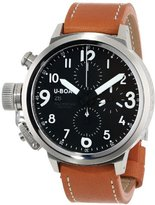 "U-Boat Men's 6249 ""Flightdeck"" Stainless Steel Watch with Leather Band"