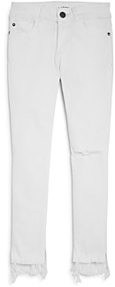 DL1961 Dl Girls' Chloe Distressed Step-Hem Skinny Jeans - Big Kid