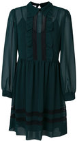 P.A.R.O.S.H. ruffled trim pleated dress