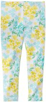 Carter's Print Leggings (Baby) - Yellow Floral-12 Months