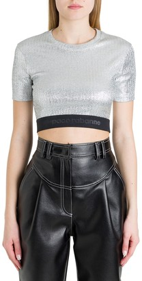 Paco Rabanne Logo Band Cropped Top