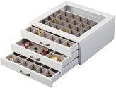 Asstd National Brand Mele & Co. Liza Glass Top White Jewelry Box