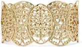 JCPenney JCP Gold-Tone Filigree Stretch Bracelet