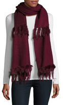 La Fiorentina Rabbit Fur & Wool Scarf
