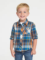 Old Navy Plaid Pocket Shirt for Toddler Boys