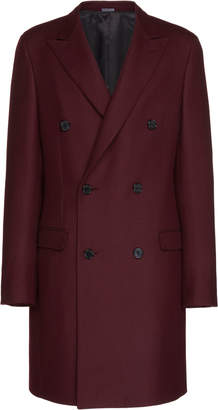 Lanvin Double-Breasted Wool Overcoat