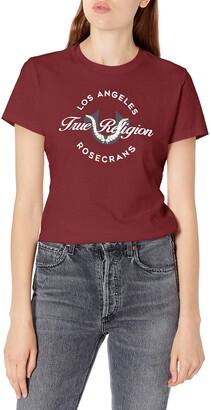 True Religion Women's Wreath Short Sleeve Slim fit Crewneck Tee