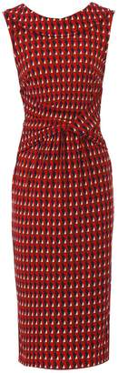 Dorothy Perkins Womens *Jolie Moi Red Geometric Print Fold Collar Dress, Red
