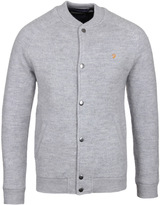 Farah Macauley Grey Knitted Bomber Jacket