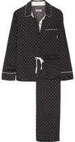 DKNY Printed Satin Pajama Set - Black