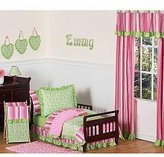 Pink and Green Olivia Girls Boutique Toddler Bedding 5 pc set by Sweet Jojo Designs