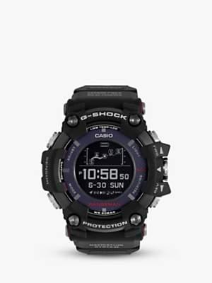 Casio GPR-B1000-1ER Men's G-Shock Rangeman Solar GPS Resin Strap Watch, Black