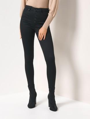 Forever New Heidi High-Rise Ankle Grazer Jeans - Black Power Stretch - 4