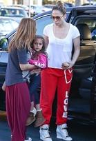 JLO by Jennifer Lopez Peace Love World Peace Love World Love Sweatpant in Red as Seen On