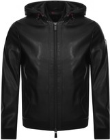 Armani Exchange Hooded Logo Jacket Black