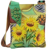 Anuschka Hand-Painted Leather Slim Cross Shoulder Bag