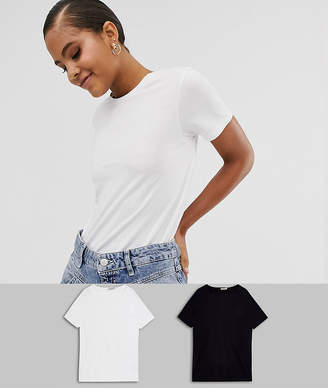 Asos Tall DESIGN Tall ultimate organic cotton t-shirt with crew neck 2 pack SAVE-Multi
