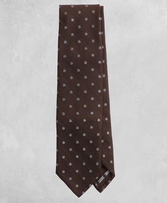 Brooks Brothers Golden Fleece Dotted Wool Silk Tie