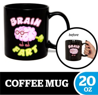 Bigmouth Inc. BigMouth Inc. Brain Fart Color Changing Coffee Mug Hilarious 20 oz Ceramic Coffee Cup, Black Changes Colors When Hot Perfect for Home or Office, Makes a Great Gift