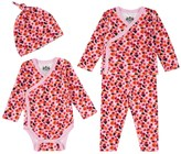 Juicy Couture Outlet - BABY KNIT MARINA FLORAL 3PC FOOTIE SET