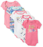Juicy Couture Newborn/Infant Girls) 5-Pack Crown Bodysuits