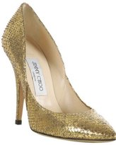 gold metallic python 'Sweden' pumps