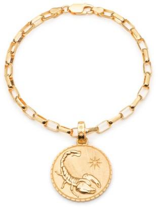 Rachel Jackson London Statement Zodiac Art Coin Scorpio Bracelet Gold