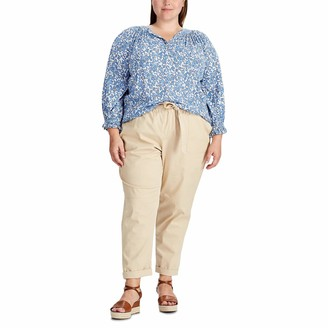 Chaps Women's Crinkled Floral Top