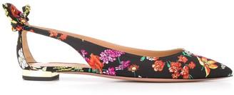 Aquazzura Floral-Print Ballerinas Shoes