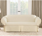 Sure Fit Cotton Canvas One Piece T-Cushion Sofa Slipcover Bedding