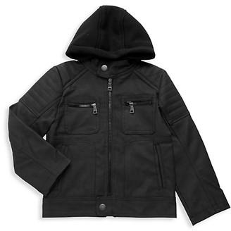 Urban Republic Little Boy's Faux Leather Hooded Jacket