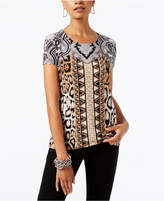 INC International Concepts Petite Printed Tie-Back Top, Created for Macy's