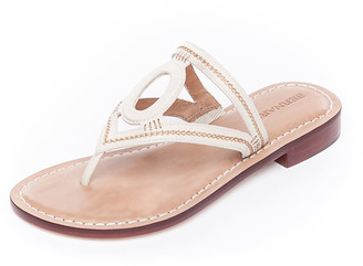 Bernardo Tania Cutout Leather Thong Sandals