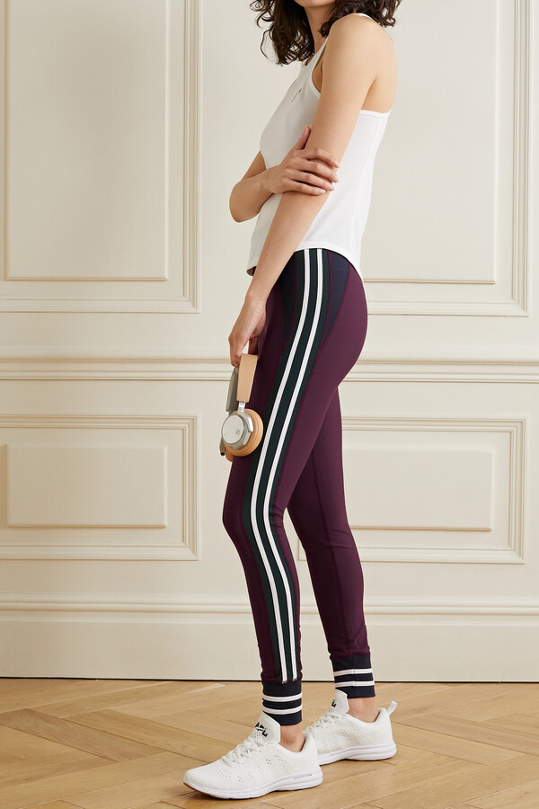 Thumbnail for your product : The Upside Heritage Color-block Striped Stretch Leggings - Red