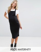 Asos Column Pinafore Dress